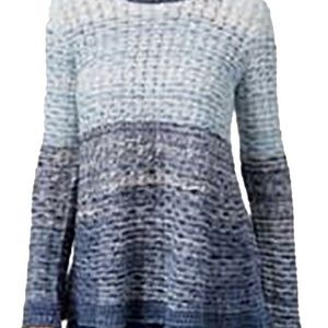 Style & Co. NEW Blue Women's Color-blocked Sweater
